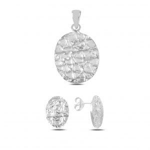 Taşsız Gümüş Takı Seti, Taşsız Setler  925 ayar gümüştür.