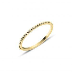 Taşsız Gümüş Yüzük, Taşsız Bayan Yüzükleri Altın Kaplama 925 ayar gümüştür.