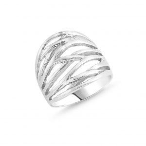 Taşsız Gümüş Yüzük, Taşsız Bayan Yüzükleri Rodyum Kaplama 925 ayar gümüştür.