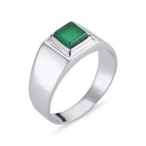 Yeşil Akik Taşlı Gümüş Erkek Yüzük, Doğal Taşlı Erkek Yüzükleri Doğal Taş 925 ayar gümüştür.