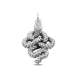 Yılan Elektroform Gümüş Kolye Ucu, Taşsız Kolye Uçları  925 ayar gümüştür.