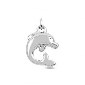 Yunus Balığı Elektroform Gümüş Kolye Ucu, Taşsız Kolye Uçları  925 ayar gümüştür.