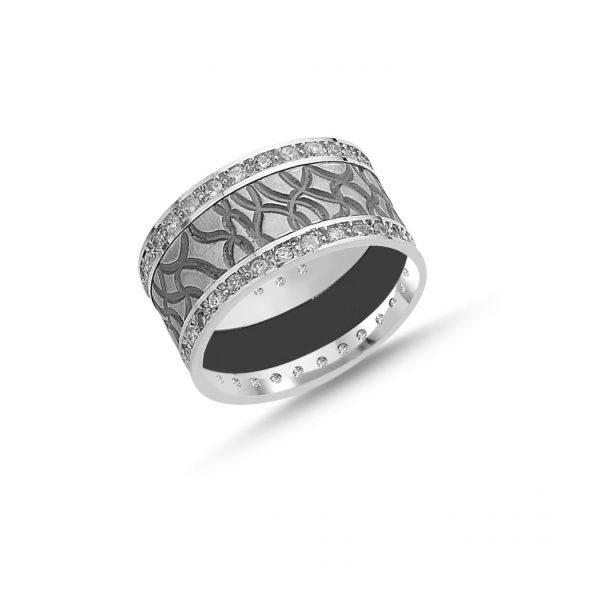 Zirkon Taşlı Gümüş Alyans, İkili Alyanslar  925 ayar gümüştür.