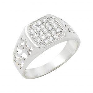 Zirkon Taşlı Gümüş Erkek Yüzük, Zirkon Taşlı Erkek Yüzükleri  925 ayar gümüştür.