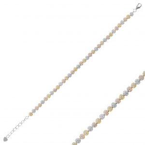 Zirkon Taşlı Gümüş Kadın Bileklik, Zirkon Taşlı Bileklikler Rodyum Kaplama 925 ayar gümüştür.