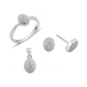 Zirkon Taşlı Gümüş Takı Seti, Zirkon Taşlı Setler  925 ayar gümüştür.