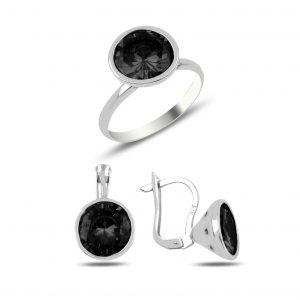 Zirkon Taşlı Gümüş Takı Seti, Zirkon Taşlı Setler Rodyum Kaplama 925 ayar gümüştür.