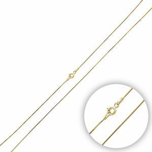 15 Mikron Tıraşlı Yılan Zincir Gümüş Kolye, Zincir Altın Kaplama Zincir 925 Ayar Gümüştür.
