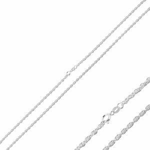 30 Mikron Halat Zincir Gümüş Kolye, Zincir Zincir 925 Ayar Gümüştür.