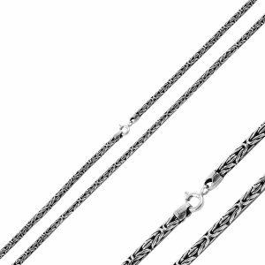 3mm Kral Zincir Gümüş Kolye, Zincir Zincir 925 Ayar Gümüştür.