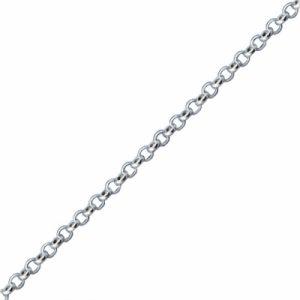 40 Mikron Doç Zincir Gümüş Kolye, Zincir Zincir 925 Ayar Gümüştür.