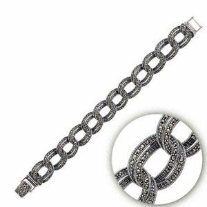 Markazit Taşlı Gümüş Bileklik, Bileklik 925 Ayar Gümüştür.