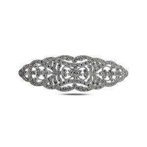 Markazit Taşlı Gümüş Broş & Kolye Ucu, Kolye Ucu 925 Ayar Gümüştür.