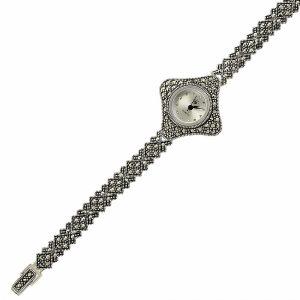 Markazit Taşlı Gümüş Saat, Saat 925 Ayar Gümüştür.