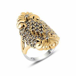 Otantik Zirkon Taşlı Gümüş Yüzük, Yüzük Otantik 925 Ayar Gümüştür.