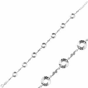 Taşsız Gümüş Bileklik, Bileklik Rodyum Kaplama 925 Ayar Gümüştür.