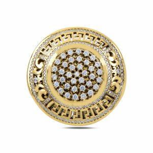 Zirkon Taşlı Otantik Gümüş Broş, Broş Otantik 925 Ayar Gümüştür.